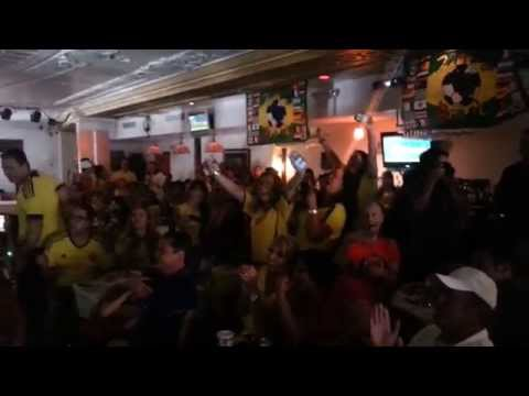 World Cup 2014 - Colombia vs  Greece 06/14/14: Colombians Rejoice at the Second Goal