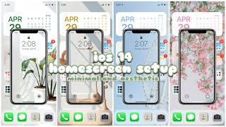 iOS 14 homescreen setup | minimal and aesthetic 🌿