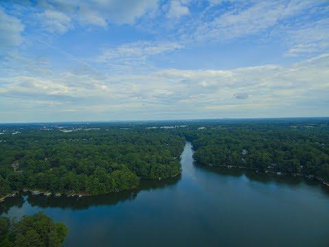 Berkeley lake, Georgia view from drone