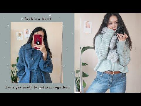 FASHION HAUL ⛄️ | 겨울 패션하울 | winter fashion haul | 프론트로우, 자라, 핸드메이드 코트, 니트 추천
