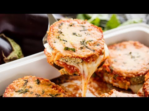 How to Make Baked Eggplant Parmesan | The Stay At Home Chef