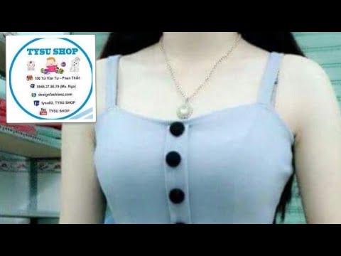 Dạy Cắt May Áo Hai Dây Bèo Lai Hàn Quốc | tysu shop |sewing diy clothes| 727