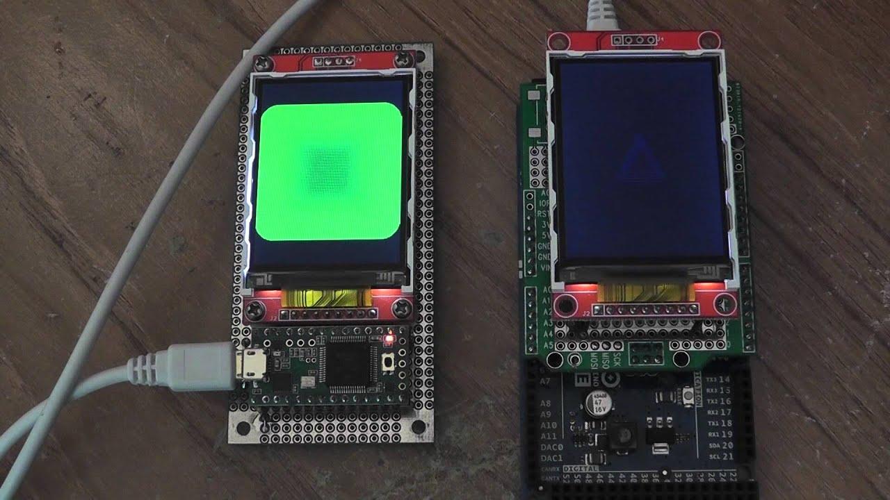 Display optimization vs arduino due youtube