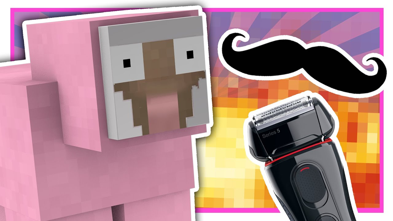 pink sheep shaves his mustache minecraft q a youtube