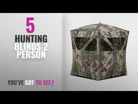 Top 10 Hunting Blinds 2 Person [2018]: Barronett Blinds RA200BW Radar Pop Up Portable Blind,