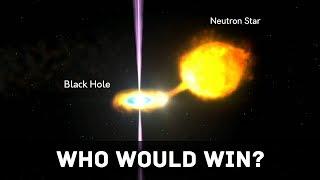 Black Hole vs Neutron Star collision, Who wins?