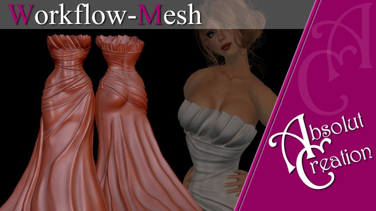 Mesh w2 in zbrush for second life - YouTube