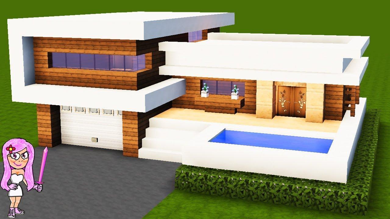 Casa moderna 10 en minecraft c mo hacer y decorar for Casa moderna 9 mirote y blancana