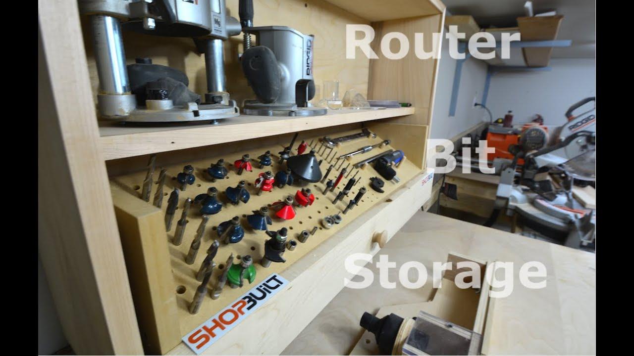 Shop Built Router Bit Storage Cabinet Youtube