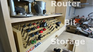 Shop built - Router bit storage cabinet!