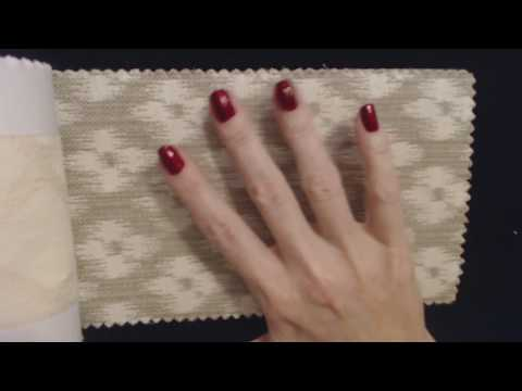 ASMR ~ Jacquard Fabric Swatches / Scratching & Tracing (Whisper)