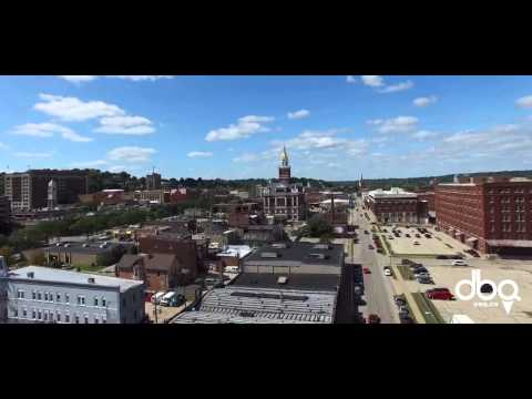 Dubuque Iowa - Downtown Aerial View - Around Dubuque
