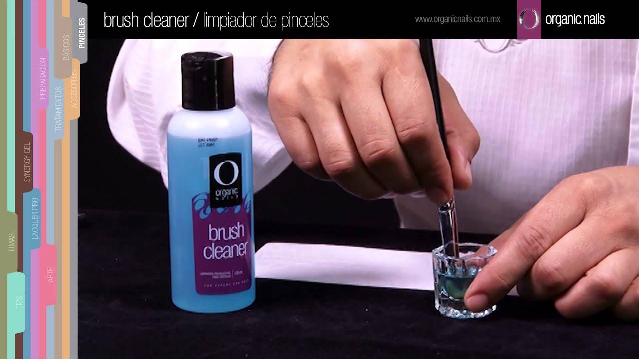 Brush Cleaner / Limpiador de pinceles Organic Nails - YouTube