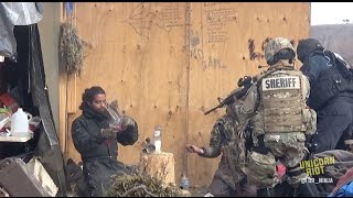 Militarized Police Evict Water Protectors from #NoDAPL Camp [2/23/17]