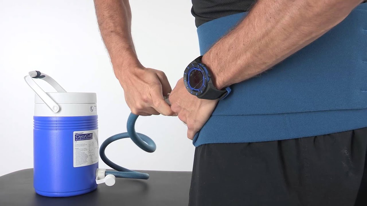 Aircast Knee Cryo Cuff with Gravity Cooler Saver Pack