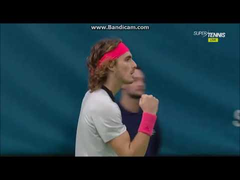 Tsitsipas vs Fognini SF Stockholm Highlights