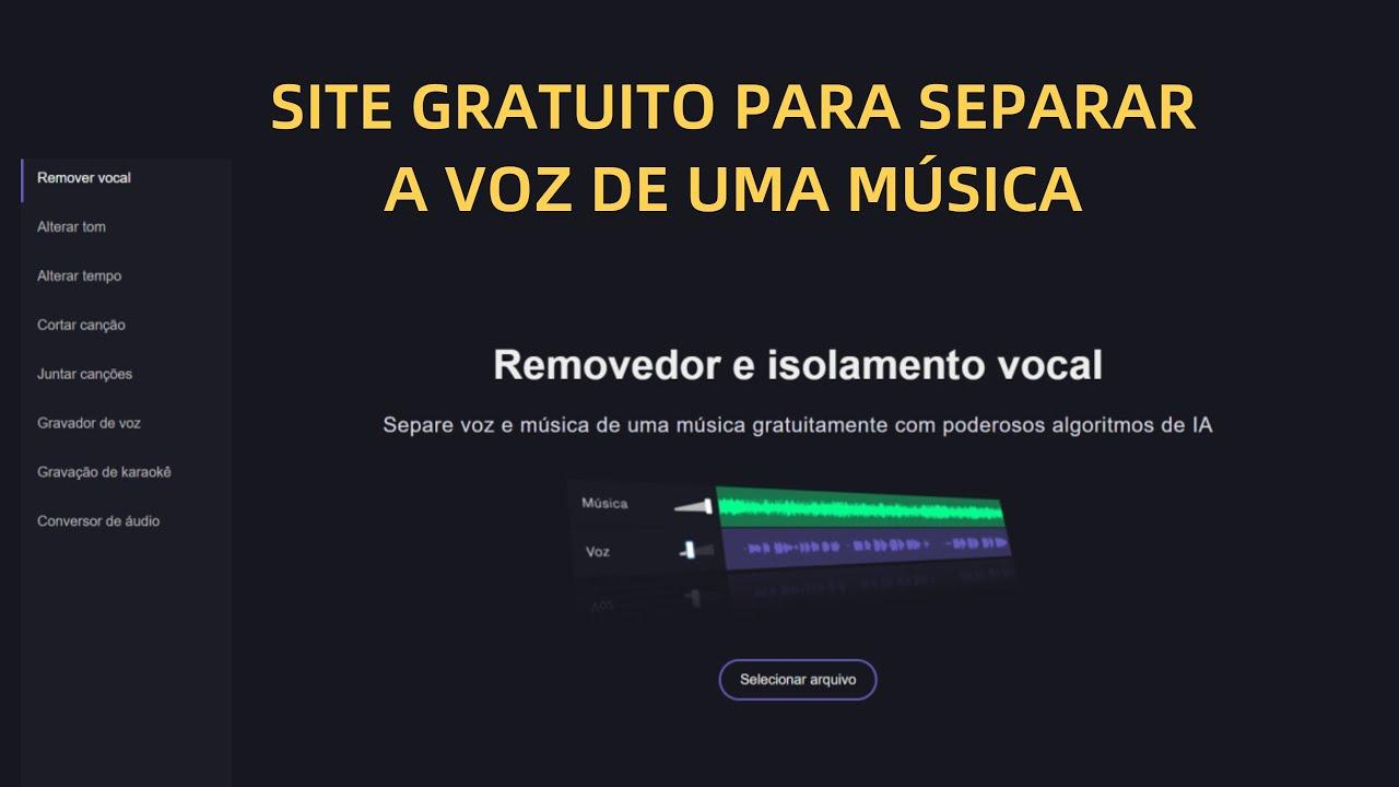 COMO SEPARAR A VOZ DOS INSTRUMENTOS DA MÚSICA