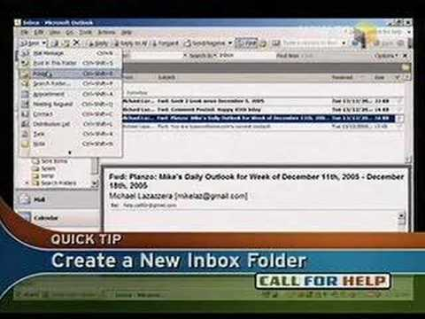 how to show inbox folder in outlook