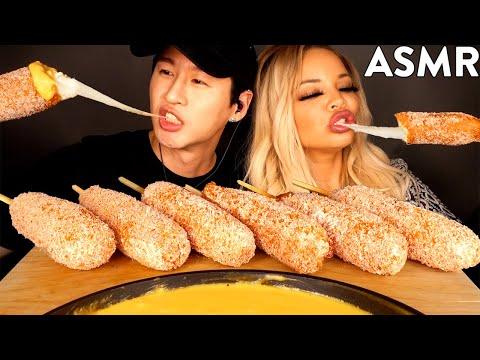asmr-mozzarella-corn-dogs-&-stretchy-cheese-with-trisha-paytas-(no-talking)-eating-sounds