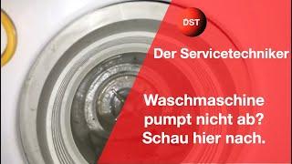 Waschmaschine pumpt nicht ab Flusensieb ist sauber das denken viele