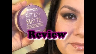 STAY MATTE LOOSE POWDER REVIEW & TUTORIAL