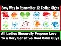 12 Zodiac signs Names in English  memorise Tricks