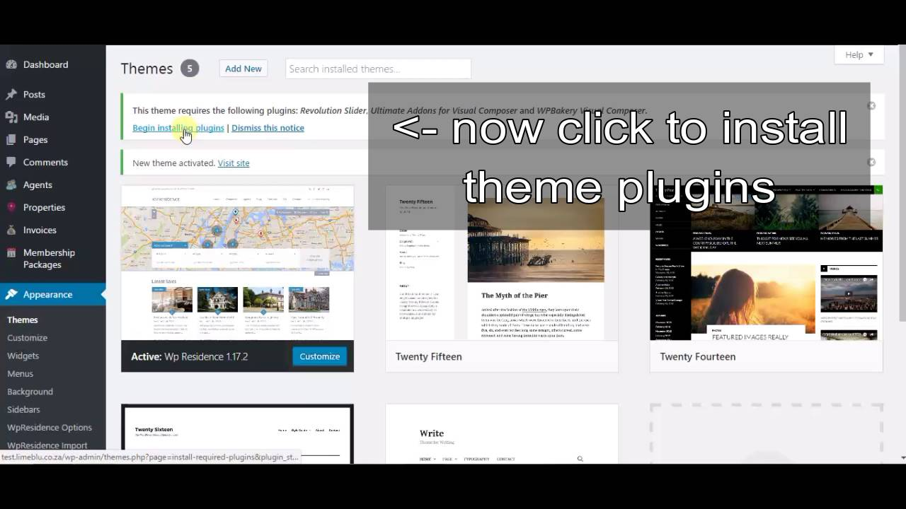 WP Residence wordpress theme - how to import the theme and install ...