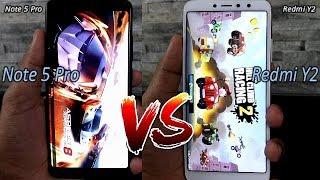 Xiaomi Redmi Y2 Vs Redmi Note 5 pro Comparision !! Speed Comparision !! HINDI