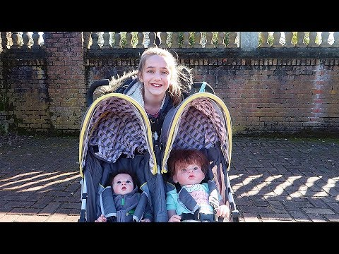taking-reborn-toddler-and-newborn-baby-dolls-on-an-outing-in-double-stroller