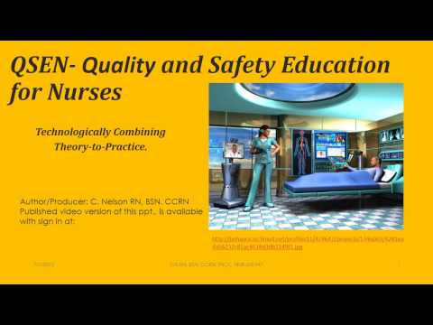 QSEN-Quality Safety and Education in Nursing -