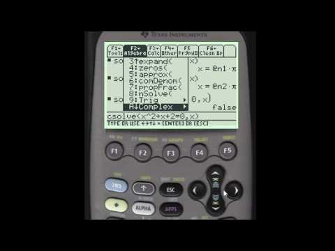 Solving Equations Using the TI 89