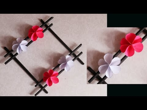 Paper Flowers Wall Hanging (easy craft) / Make7