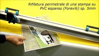 Taglia Pannelli DIGICUT mod. Dual. Taglierina manuale per Forex, PVC espanso, Cartoncino, Polionda