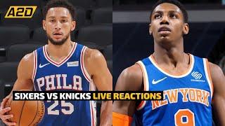 Philadelphia 76ers vs new york knicks livestream reaction. ben simmons & joel embiid julius randle rj barrett. #sixers #nba #knicks