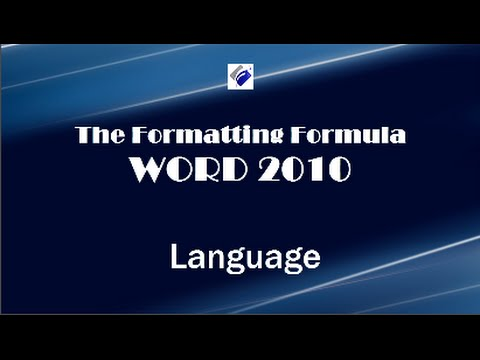 how to change the language in word