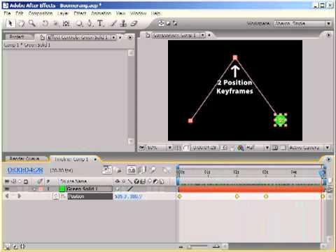 AE Keyframe Boomerang Effect, Part 1