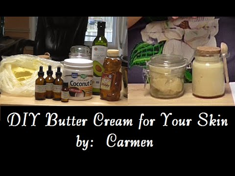 DIY Butter Cream for Your Skin  (Shea Butter, Coconut and Avocado Oils)