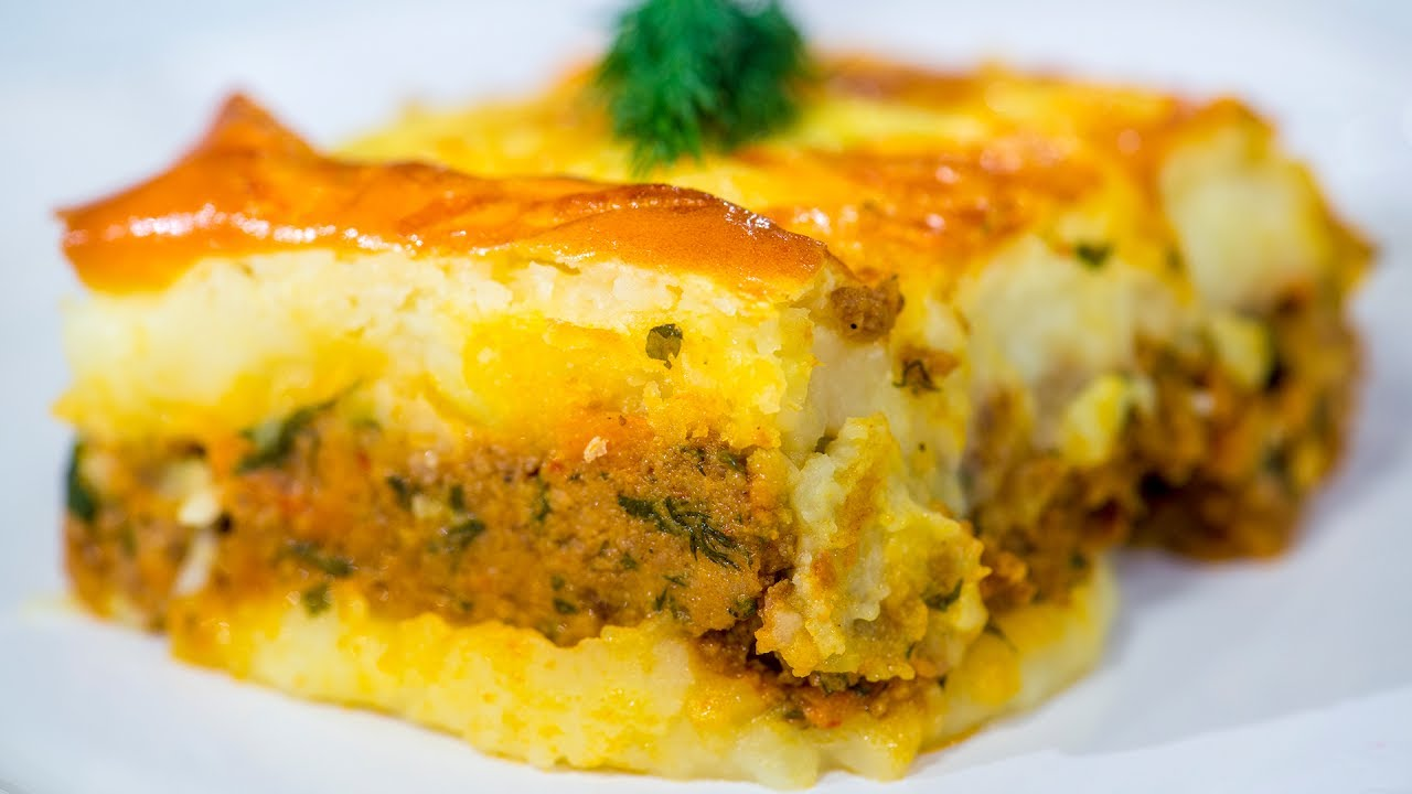 Reteta - Musaca cu piure de cartofi | Bucataras TV