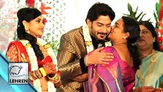 Prajwal devaraj and ragini chandran wedding reception images | lehren kannada