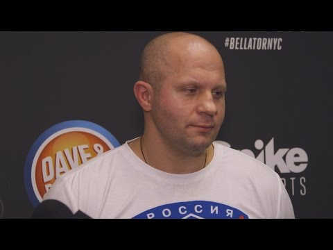 Fedor Emelianenko Isn't Amused by Chael Sonnen's Antics at Presser
