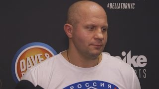 Fedor Emelianenko Isn't Amused by Chael Sonnen's Antics at Presser