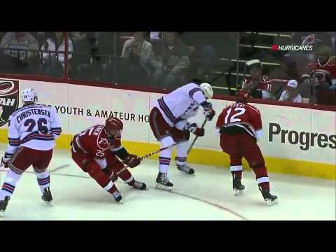 Eric Staal crushes brother Marc 2/22/11