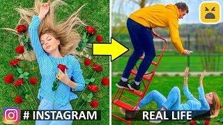 Download Instagram vs Real Life! Phone Photo DIY Life Hacks Mp3 and Videos