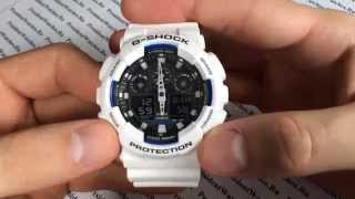 Как настроить часы Casio G-SHOCK GA-100B-7A - видео инструкция от PresidentWatches.Ru