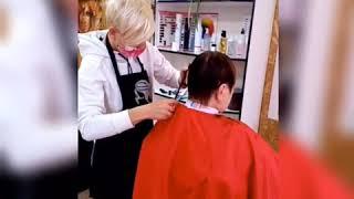 ПРОЦЕСС Женская стрижка на короткие волосы Мария Гороховская салон красоты LaFamilia salon Бровары