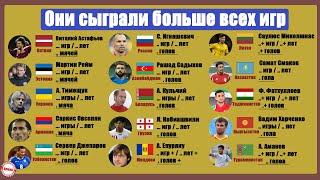 У кого самая длинная карьера в странах СССР Сборная Украины России