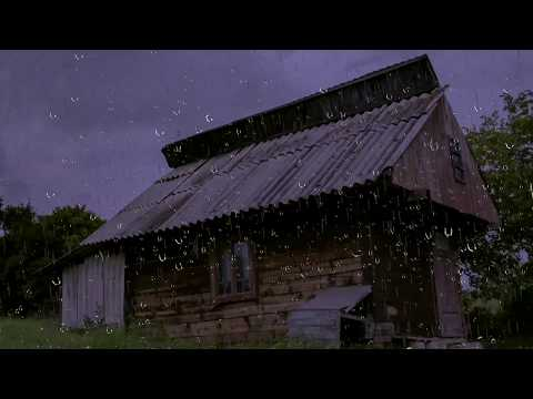 Relaxing Rain Sounds on a Tin Roof w/ Thunder for Sleep & Re