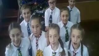 Відеопривітання Одеської ЗОШ №5 з Новим роком.