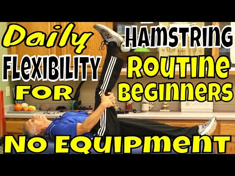 Daily Hamstring Flexibility Routine for Beginners -NO Equipment