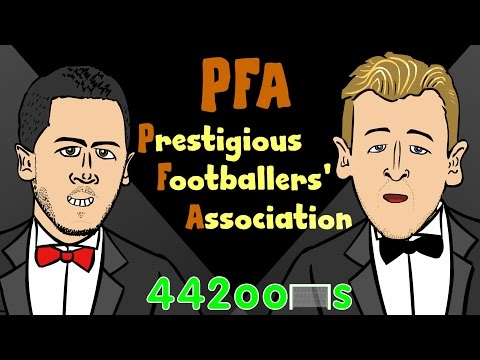 PFA Awards 2015 CARTOON Eden Hazard and Harry Kane Highlights! (Parody)